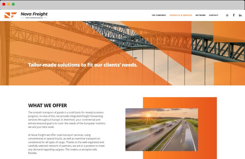 Mdesigners-NovaFreight-website