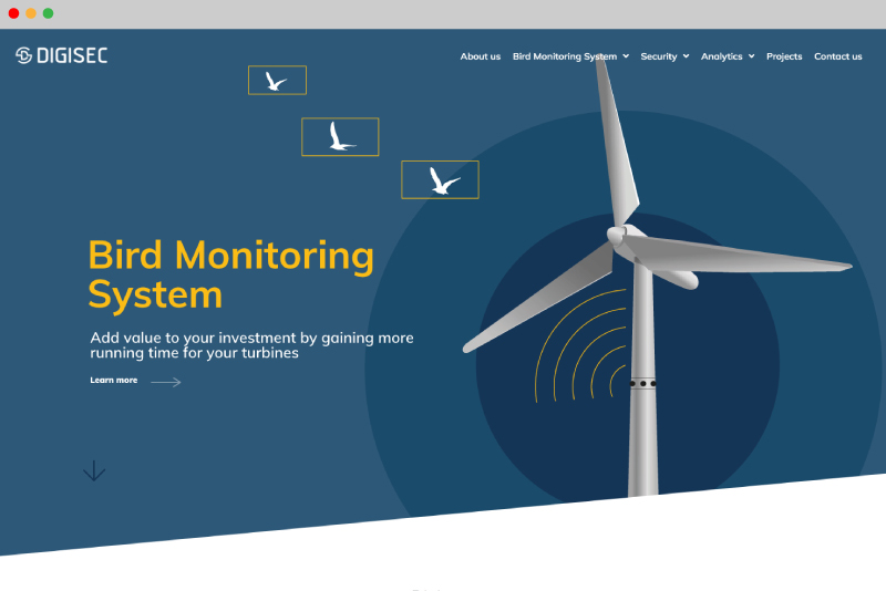 Mdesigners-digisec-webdesign-homepage-bird-monitoring-system