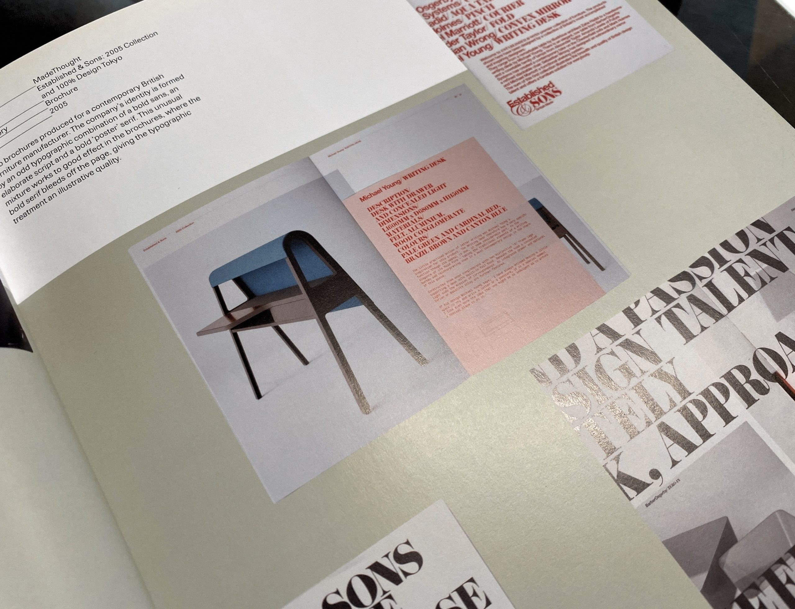 Negative space as seen in a graphic design book