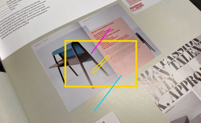 Negative space as seen in a graphic design book of MDesigners